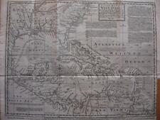 c1750 - E. BOWEN - Map  GULF OF MEXICO  WEST INDIES  FLORIDA  LOUISIANA