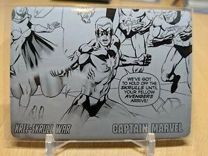 Upper Deck Kree-Skrull War Printing Plate - Black - Captain Marvel