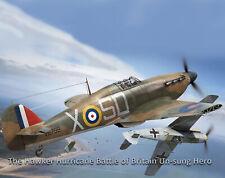 Vintage Model Company Hawker Hurricane Balsa Laser Cut Model Kit Flying Scale FF