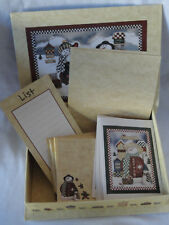 Snowman Card and Stationery Box Set (6 cards, List Pad, 20 Sheets, 21 evelopes)