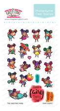 FAIRY HAPPY-The Greeting Farm Clear Photopolymer Stamp-Stamping Craft-Fairies