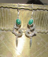 Pendiente en el estilo Art Nouveau con Malaquita Piedra de Afrodita