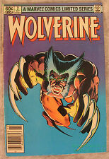 Wolverine 1982 Limited Series #2 VHTF NEWSSTAND Edition Cover X-Men Frank Miller