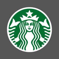 Starbucks Logo Emblem Vinyl Sticker Skateboard Luggage Laptop Decals 6.5X6.5CM
