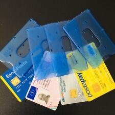 4 Pezzi Porta carte di credito rigido Blu, Produzione Italiana ottimo