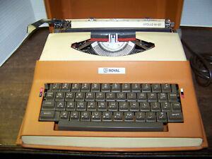 Vintage Royal Apollo 10-GT Portable Electric Typewriter Orange