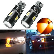 Amber 4-SMD 9W LED Light Bulb T10 W5W 921 for Chevrolet Parking City Light