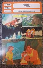 US Walt Disney Animated Adventure Musical Tarzan French Film Trade Card