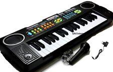 Niños de los niños de 37 Teclas De Juguete De Radio Fm Teclado Electrónico Piano Musical Instrume Mic
