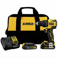 Best Drill Driver Kit Dewalt 20V MAX Brushless Compact 1/2in 2 Batteries Charger