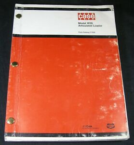CASE W26 Articulated Loader Tractor Parts Manual Book Catalog