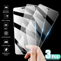 3x For iPhone 12 11 Pro Max SE 2 XS XR 8 7 Plus Tempered Glass Screen Protector