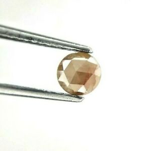 Natural Diamond 0.41TCW 4.8 MM Reddish Yellow Sparkling Round Rose Cut for Gift