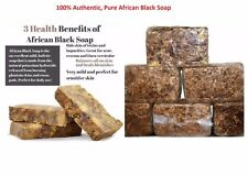Traditional Original African Black Soap made of Coconut Pod Shea Butter fr Ghana
