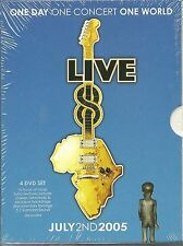 Live 8 One Day One Concert Various Artists (4 DVDs) Neu OVP Sealed