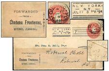 Canada Chateau Frontenac Forwarding Label July 1894