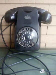 TELEFONO DA MURO D'EPOCA SIEMENS auso in bachelite nera