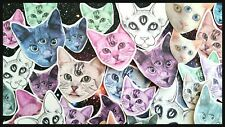 Kitsch Animal 3 Eyed Kitty Stickers,Pastel Goth,Creepy Cute Kawaii Cat Scrapbook
