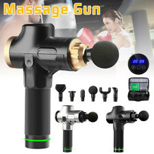 Massage Gun 6 Heads LCD Vibration Relaxing Muscle Tissue Percussion Therapy Deep