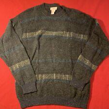 Ermenegildo Zegna Made in Italy Patterned Crewneck Sweater Large