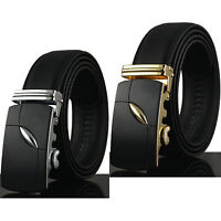 Luxury Fashion Men Dress Genuine Leather Automatic Buckle Waistband Casual Belts