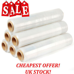 NEW STRONG CLEAR PALLET STRETCH-SHRINK WRAP CAST PARCEL PACKING CLING FILM LONG