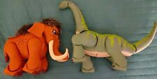 2004 Fisher Price Imaginext Thunder The Brontosaurus Dinosaur & Wooly Mamouth