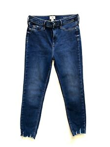 Ladies  RIVER ISLAND MOLLY Skinny Blue Jeans/Jeggings  Size 12 S Great cond
