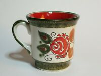 Schramberg German Art Pottery Hand Painted SMF Small Coffee Mug Demitasse Cup