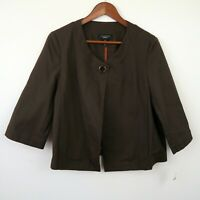 NEW Talbots Bolero Blazer Jacket in Coffee Brown NWT Women's 14