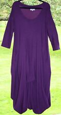 "SAHARA Purple Dress 40-52""Bust L Bubble Asymmetric Textured Heavy Stretch Jersey"