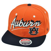 NCAA Zephyr Auburn Tigers Shadow Script Snapback Flat Bill Adjustable Hat Cap