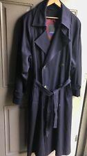 Bloomingdale's Drizzle Military BlueTrench Rain Coat Men's 36 Regular Lined