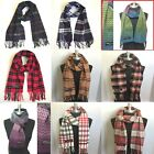 100% CASHMERE Plaid Scarves Warm Solid Plain Winter Check Scarf High quality