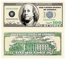 Set of 50 - $100.00 Ben Franklin Casino Party Money