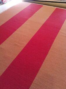 Oriental area rug flat weave soumak pumkin red 8'x10' soft Tibetan  Nepal Wool