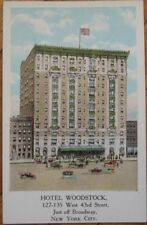 1920 Postcard - The Hotel Woodstock - New York City, NY