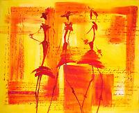 Bild Abstrakt Acryl BelAir Original Figürlich Erotik Frau Mode woman  60x80 Neu