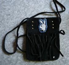 Suede leather hand made purse.