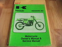 Kawasaki KDX400-A2 Owner's & Service Manual  99963-0029-01
