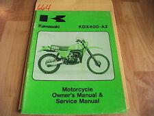 Kawasaki KDX400-A2 Owner's & Service Manual  99963-0029-01