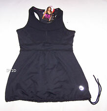 One Active By Michelle Bridges Ladies Black High Impact Tank Top Size 8 New