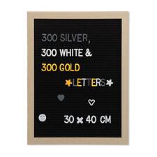Letter Board Holz Stecktafel 40x30 Rillentafel Memoboard Buchstabenbrett Schwarz