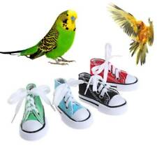 Funny Mini Canvas Shoes Bird Toys Chew Bite Decoration Hanging Cage Parrot Craft