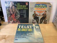 THE VENTURES 3 LP Lot - Play Telstar - The Colorful Ventures - Christmas Album