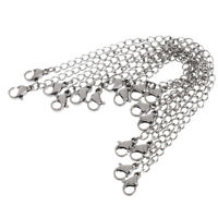 Lots Jewelry Findings Stainless Steel Thin 4mm Double Link Chain Marking DIY new
