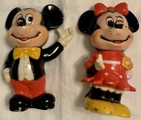 Vintage Disney Mickey Mouse & Minnie Mouse  Banks 1960's