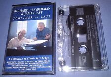 RICHARD CLAYDERMAN & JAMES LAST TOGETHER AT LAST cassette tape album T4264