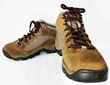 Womens Size 7 M Hi-Tec Mid Brown Leather Hiking Boots Lace-Up Ankle Walking EUC