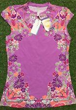 New Seafolly Kimono Rose Musk Cap Sleeve Sun Rash Vest - Size S - UPF50+